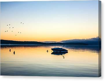 Lake Geneva Wisconsin Canvas Print - Morning Calm by Todd Klassy