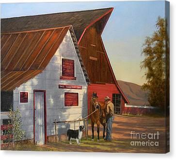 Morning Chores Canvas Print
