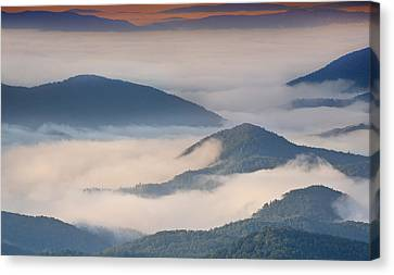 Morning Cloud Colors Canvas Print
