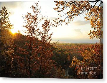 Morning Comes To The High Rollaways Canvas Print by Terri Gostola