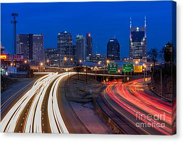 Morning Commute Canvas Print by Anthony Heflin