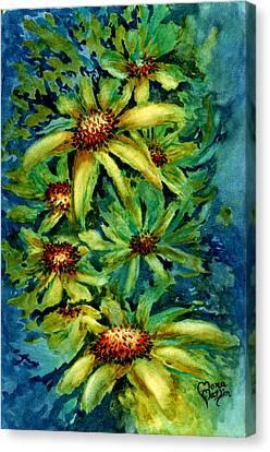 Morning Daisies Canvas Print