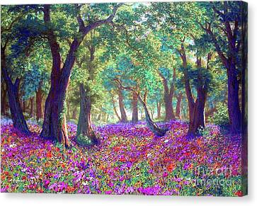 Oaks Canvas Print - Morning Dew by Jane Small
