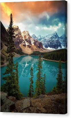 Morning Eruption  Canvas Print