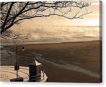 Morning Filey Beach Canvas Print by Svetlana Sewell