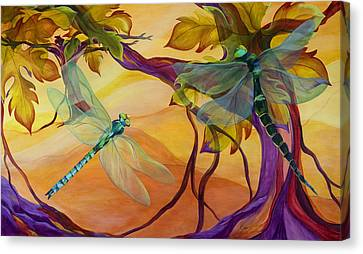 Grape Vines Canvas Print - Morning Flight by Karen Dukes