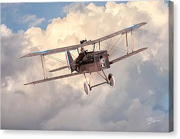 Morning Flight - Se5a Canvas Print by David Collins