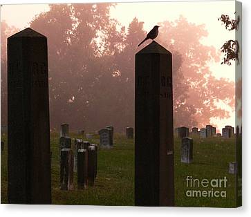 Morning Fog Along The Tennessee Canvas Print by David Bearden