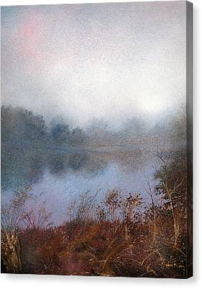 Canvas Print featuring the painting Morning Fog by Andrew King