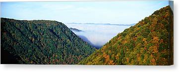 Morning Fog At Sunrise In Autumn Canvas Print by Panoramic Images