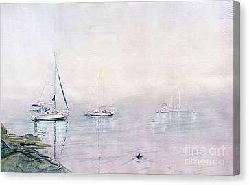Morning Fog  Canvas Print by Melly Terpening
