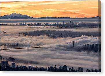 Morning Fog Canvas Print by DGS Full Spectrum Photography