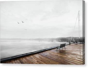 Morning Fog In Newport Canvas Print