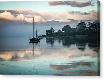 Morning Fog Is Lifting-2 Canvas Print