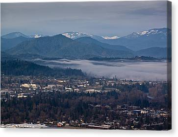 Morning Fog Over Grants Pass Canvas Print