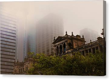 Morning Fog Over The Treasury Canvas Print