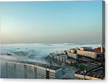 Morning Fog Canvas Print by Vadim Tereshchenko