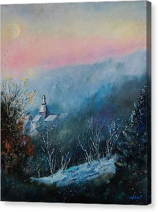 Morning Frost Canvas Print by Pol Ledent
