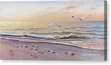 Morning Glisten Canvas Print by Joe Mandrick