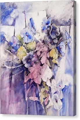 Morning Glories Canvas Print