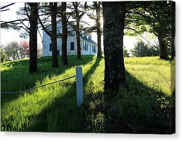 Maine Farmhouse Canvas Print - My Heart Sings by Laurie Breton