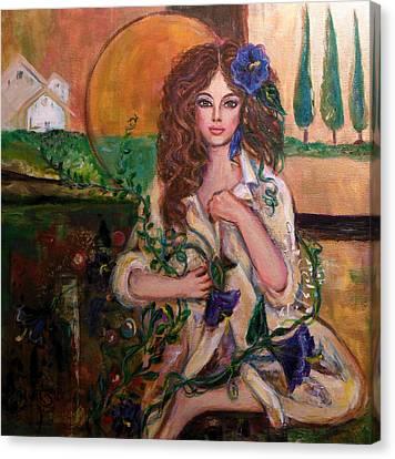 Morning Glory Canvas Print by Kimberly Van Rossum