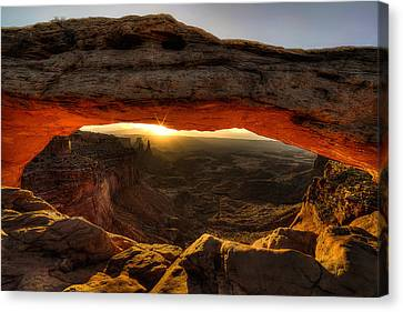 Morning Glow At Mesa Arch Canvas Print