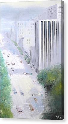 Morning Glow On Broadway 1986 Canvas Print by Wingsdomain Art and Photography