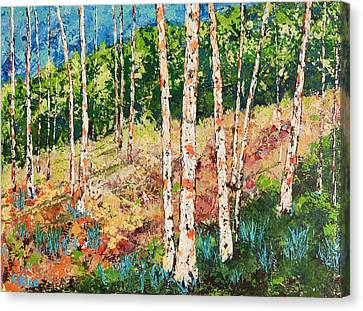 Canvas Print featuring the painting Morning Grove by Chris Rice