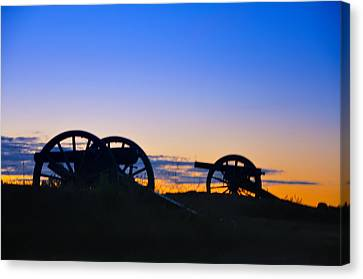 Colorful Sky Canvas Print - Morning Guns At Gettysburg by Bill Cannon