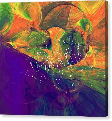 Abstract Digital Canvas Print - Morning Heat Abstract by Georgiana Romanovna