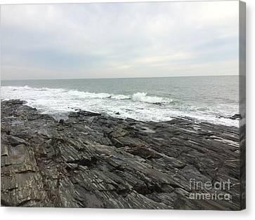 Morning Horizon On The Atlantic Ocean Canvas Print by Patricia E Sundik
