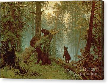 Morning In A Pine Forest Canvas Print by Ivan Ivanovich Shishkin