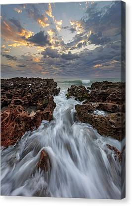 Morning In Motion Canvas Print by Mike Lang