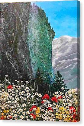 Morning In Mountains  Canvas Print by Viktoriya Sirris