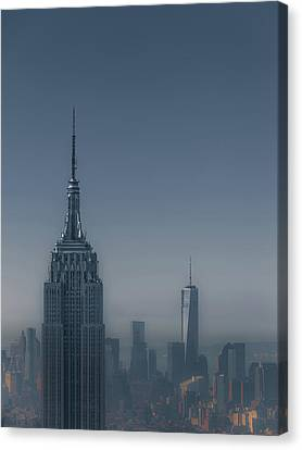 Morning In New York Canvas Print by Chris Fletcher