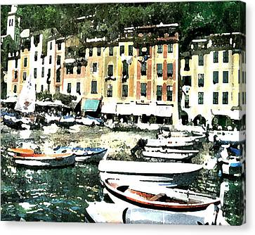 Morning In Portofino Canvas Print by Donna Corless