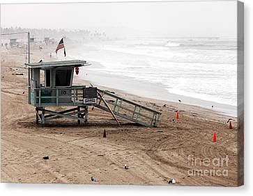 Morning In Santa Monica Canvas Print by John Rizzuto