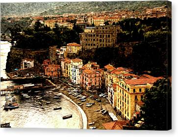 Morning In Sorrento Italy Canvas Print by Xavier Cardell