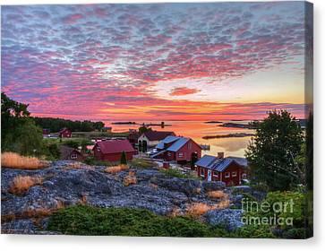 Morning In The Archipelago Sea Canvas Print by Veikko Suikkanen