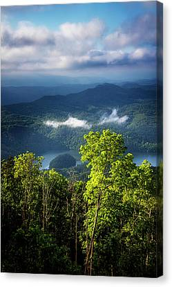 Morning In The Blue Ridge Mountains Canvas Print