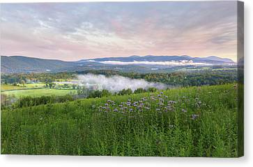 Canvas Print featuring the photograph Morning In The Hills 2017 by Bill Wakeley