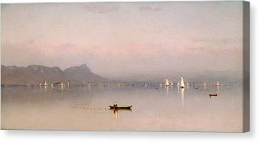 Seaside Heights Canvas Print - Morning In The Hudson, Haverstraw Bay by Sanford Robinson Gifford