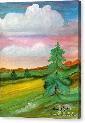Morning In The Mountains Canvas Print by Anna Folkartanna Maciejewska-Dyba