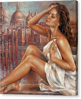 Morning In Venice Canvas Print by Arthur Braginsky