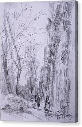 morning in Via Nomentana Rome Canvas Print by Ylli Haruni