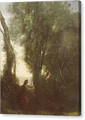Morning Canvas Print by Jean Baptiste Camille Corot