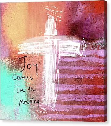 Prayer Canvas Print - Morning Joy- Abstract Art By Linda Woods by Linda Woods