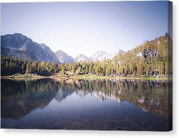 Morning Light At Heart Lake Canvas Print by Alexander Kunz