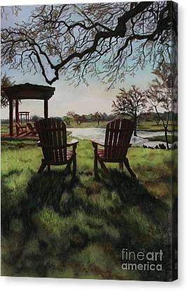 Morning Light At The Vineyard Florence Texas Canvas Print by Kelly Borsheim